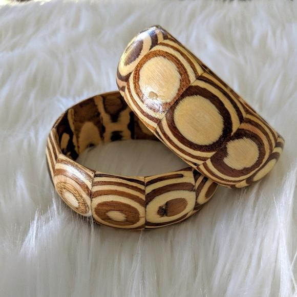 05023fe9e6c Chewsigirl Jewelry   Vintage Chunky Wooden Bangles   Poshmark